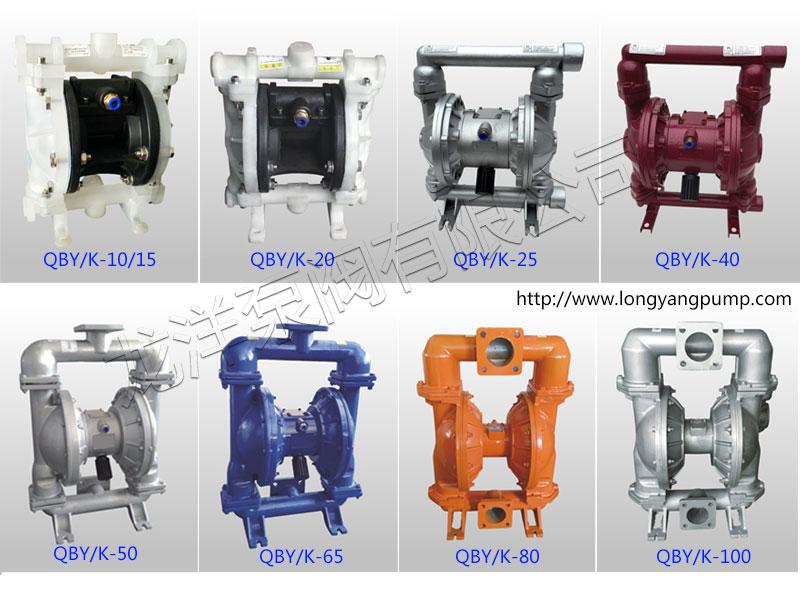 QBY/K气动隔膜泵各型号图